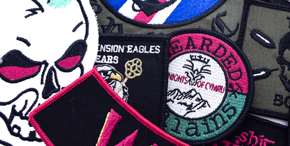 Printed biker badges