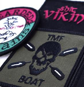Sew-on biker badges