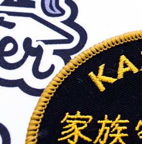 Custom martial arts badges