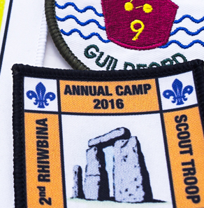 Scout troop badges
